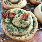 Vegan Sundried Tomato Pesto Swirls
